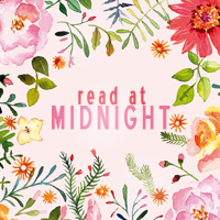 read at midnight blog button watercolour flowers